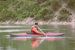 Kayaking. Stock Photo