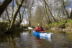 Kayaking on Kendrum Burn Stock Photos