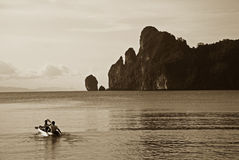 Kayaking on the Ko Phi Phi island Stock Photo