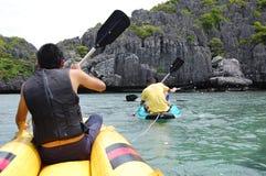 Kayaking at  KOH SAMUI Stock Photos