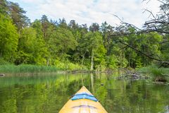 Kayaking by Krutynia river in Poland Royalty Free Stock Photo