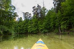 Kayaking by Krutynia river in Poland Royalty Free Stock Photography