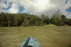 kayaking lake royaltyfri bild