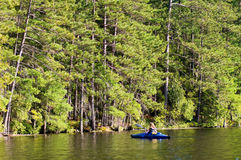 Kayaking on a lake Stock Image