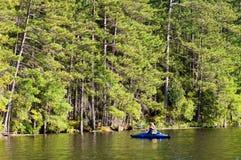 Kayaking on a lake Stock Image