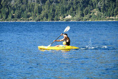 Kayaking in a lake Stock Photography