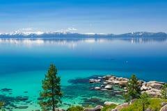 Kayaking Lake Tahoe Royalty Free Stock Photography