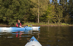 Kayaking on Lake Windermere Stock Photography