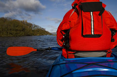 Kayaking on Lake Windermere Royalty Free Stock Photo