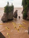 Kayaking les pots de fleurs Photo libre de droits