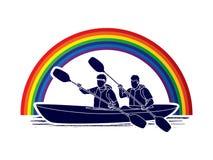 Kayaking Leute Stockfotos