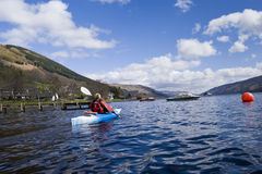 Kayaking on Loch Earn Royalty Free Stock Photos