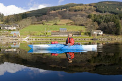 Kayaking on Loch Earn Royalty Free Stock Image