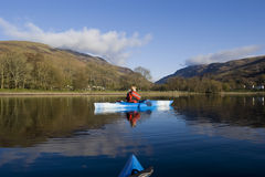 Kayaking on Loch Earn Royalty Free Stock Photography