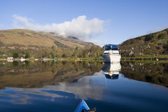 Kayaking on Loch Earn. View from kayak on Loch Earn Perthshire Scotland Stock Photos