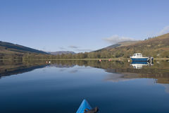Kayaking on Loch Earn. View from kayak on Loch Earn Perthshire Scotland Stock Photography