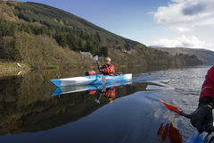 Kayaking on Loch Earn Royalty Free Stock Photo