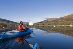 Kayaking on Loch Earn Royalty Free Stock Images