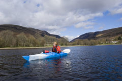 Kayaking on Loch Earn Stock Photos