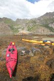 Kayaking in Lofoten Stock Photo