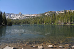 Kayaking at Mammoth Lakes. Royalty Free Stock Image