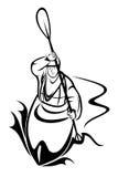 Kayaking man. Vector illustration : Kayaking man on a white background Royalty Free Stock Images