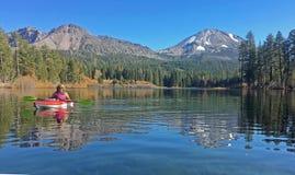 Kayaking Manzanita lake Stock Photography