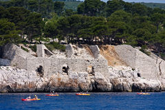 Kayaking the Mediterranean Royalty Free Stock Images