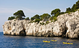 Kayaking the Mediterranean Stock Photography