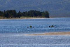 Kayaking na água Fotos de Stock Royalty Free