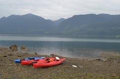 Kayaking na Chilijskich Fjords blisko Puerto Varas, Patagonia obraz stock