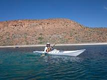 Kayaking na morzu cortez, Meksyk Zdjęcie Royalty Free