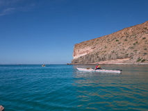 Kayaking na morzu cortez, Meksyk Fotografia Royalty Free