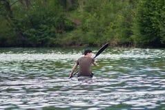 Kayaking na rzece Zdjęcie Stock