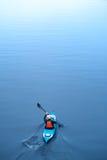 Kayaking na rzece, tyły view01 Obrazy Royalty Free
