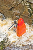 Kayaking nel fiume Findhorn. Fotografia Stock