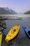 Kayaking nell'Alaska Fotografie Stock Libere da Diritti