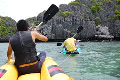 Kayaking no KOH SAMUI Fotos de Stock