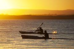Kayaking Noosa στοκ εικόνες με δικαίωμα ελεύθερης χρήσης