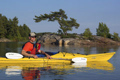 Kayaking North Channel Lake Huron Stock Image