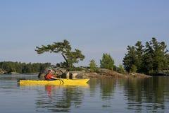 Kayaking North Channel Lake Huron Stock Images