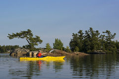 Kayaking North Channel Lake Huron Royalty Free Stock Images