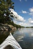 Kayaking on a Northern Lake Stock Image