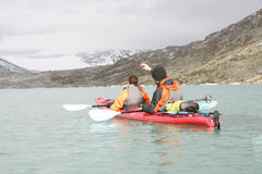 kayaking norway arkivfoton