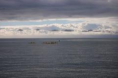 Kayaking Nya Zeeland Arkivfoto