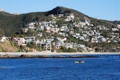 Kayaking off Laguna Beach, California. stock photo
