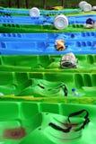 Kayaking op de rivier Zrmanja Stock Afbeelding