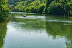 Kayaking op Roanoke-Rivier royalty-vrije stock afbeelding