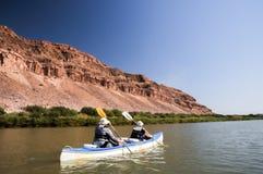 Kayaking the Orange River Stock Image