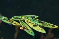 Kayaking på havet Fotografering för Bildbyråer